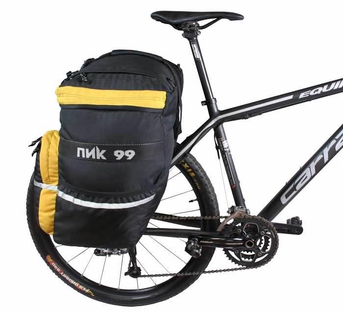 Как установить велорюкзак на багажник рюкзак самолеты росмэн